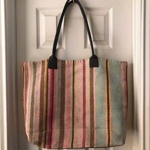 Dash & Albert Tote Bag Multi leather strap